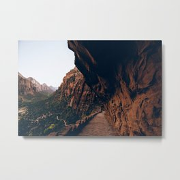 Trails of Zion Metal Print