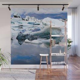Watercolor Landscape, Jokulsarlon 02, Iceland Wall Mural