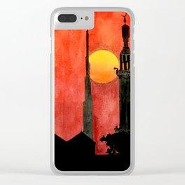 UAE Sunset Clear iPhone Case