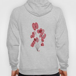 Patterned Poppies Hoody