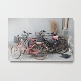Bicycle Stand Metal Print