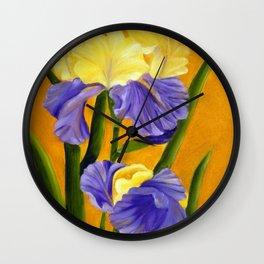 German Bearded Iris Wall Clock
