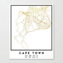 CAPE TOWN SOUTH AFRICA CITY STREET MAP ART Canvas Print