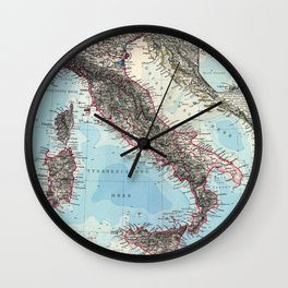 Vintage Map of Italy (1891) Wall Clock