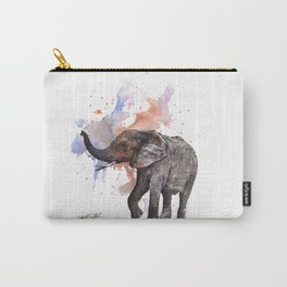 Dancing Elephant Painting Carry-All Pouch