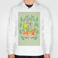 sayings Hoodies featuring Every Fox...fox, sayings, typography, quote, nature, leaves by Slumbermonkey Designs