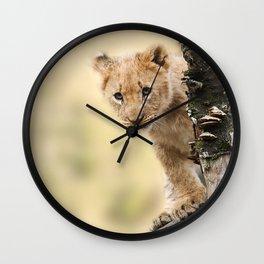 Cute Lion Cub Wall Clock