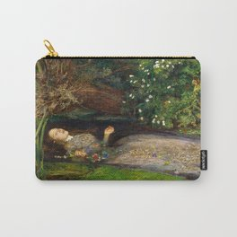 Ophelia Painting by John Everett Millais Carry-All Pouch