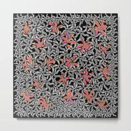 black and white - bungong jeumpa, flower Metal Print