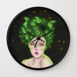 Green Lady Wall Clock