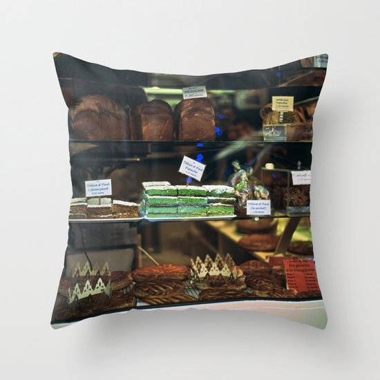French Bakery  Throw Pillow