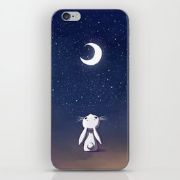 Moon Bunny iPhone Skin