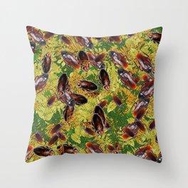 Cockroaches Throw Pillow