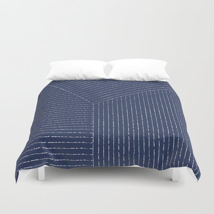 Lines (Navy) Bettbezug