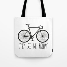 They See Me Rollin' Bicycle - Men's Fixie Fixed Gear Bike Cycling Tote Bag