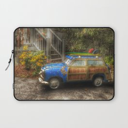 Off to Fulfill a Surfing Dream Laptop Sleeve