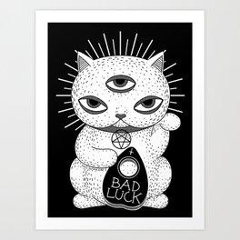 BAD LUCK Art Print