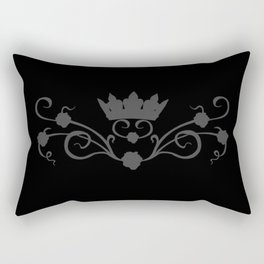 Black rose tendril, gothic, roses, flowers Rectangular Pillow