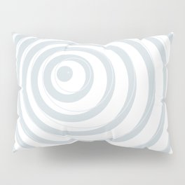 orbits - circle pattern in ice gray and white Pillow Sham