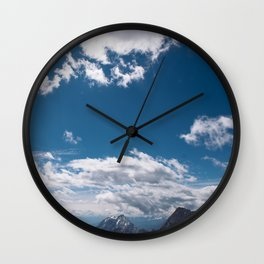 A beautiful day in the mountains Wall Clock
