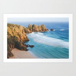Cornish Coastal Sunset Art Print