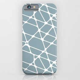 White & Pale Blue Abstract Mosaic Pattern 2 Pairs to Clare Paints 2020 Color of The Year Good Jeans iPhone Case