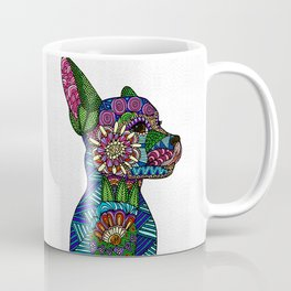 Folk Art Puppy Coffee Mug