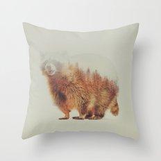 Norwegian Woods: The Raccoon Throw Pillow