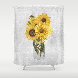 Vintage Sunflower Shower Curtain