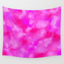 Passion Pink Valentines Abstract Wall Tapestry