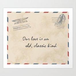 old love letter Art Print