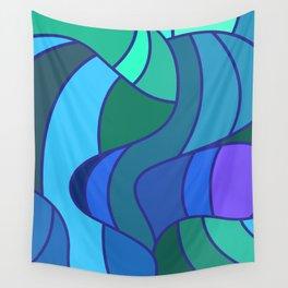 Jay Bird Pattern Design Abstract Wall Tapestry