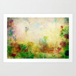 Ginkelmier Land ~ Watercolor Fairy Garden Art Print