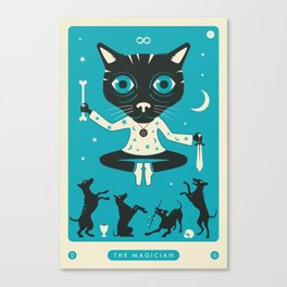 TAROT CARD CAT: THE MAGICIAN Canvas Print