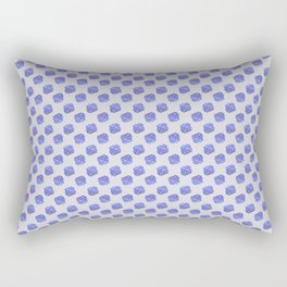 Tulip_Floral_Hydrangea repeat pattern Rectangular Pillow