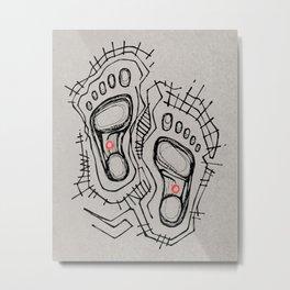 Jesus Christ feet illustration Metal Print