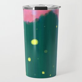 Tall Grass Pink Sky - Fireflies 1 Travel Mug
