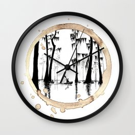 Coffee Stained On The Bayou-Louisiana Series Wall Clock