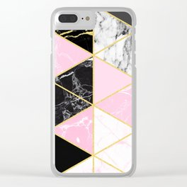 Geometric 964 // Sweet Peony Clear iPhone Case