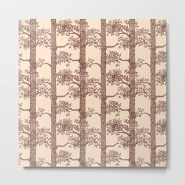 Pine Forest (Beige and Brown) Metal Print