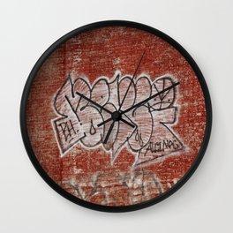 Graffiti in Hochelaga Wall Clock