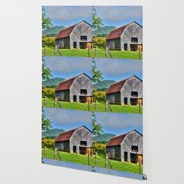 Rural Barn Wallpaper
