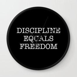 Discipline Equals Freedom Wall Clock