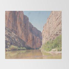 Santa Elena Canyon Throw Blanket