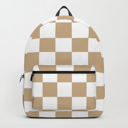 Checkered (Tan & White Pattern) Backpack