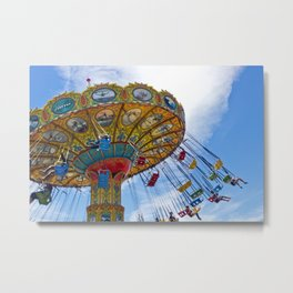 Flying Swings  Carnival Photography Metal Print