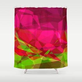 Rosas Moradas 1 Abstract Polygons 3 Shower Curtain