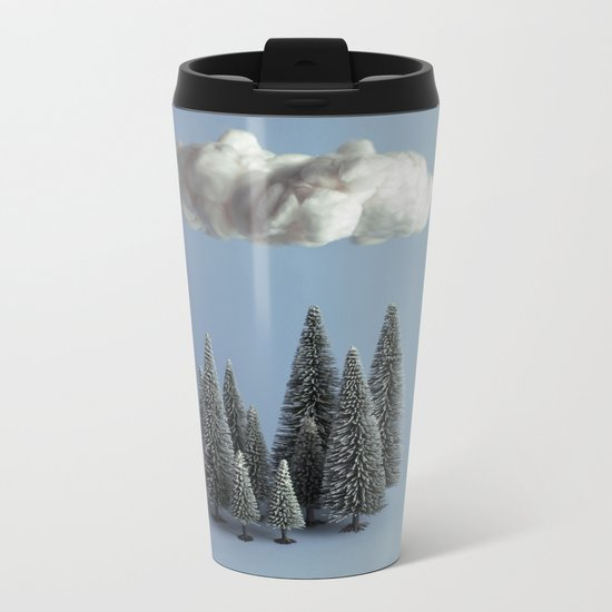 A cloud over the forest Metal Travel Mug