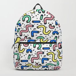 80s - 90s KEITH HARING STYLE SQUIGGLE PATTERN Backpack