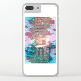 Lunar Arboretum Clear iPhone Case